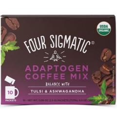 Four Sigmatic Adaptogen Coffee Mix with Ashwagandha, 10x2.5g Sachets