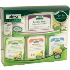 Aleva Naturals Bamboo Baby Wipes Gift Set (Clearance Price!!)