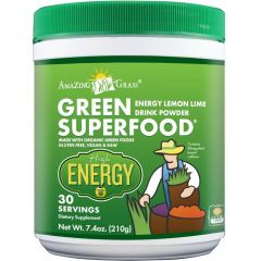 Amazing Grass Green Superfood High Energy Drink Mix, 210g