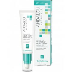 Andalou Naturals Coconut Milk Youth Firm Night Cream, 50g (Will Ship From West Warehouse)