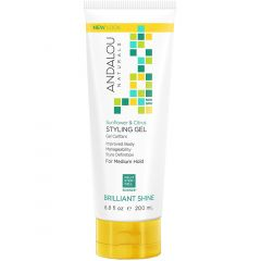 Andalou Naturals Sunflower Citrus Shine Styling Gel, 200ml