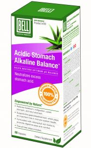 Bell Acidic Stomach Alkaline Balance #39, 60 Capsules