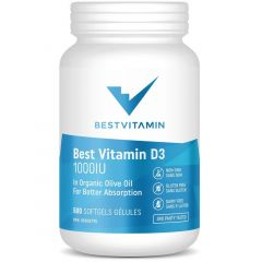 BestVitamin Best Vitamin D3 with Olive Oil Base