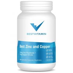 BestVitamin Best Zinc and Copper 25mg Front