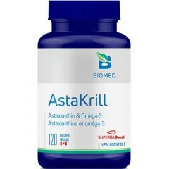 Biomed AstaKrill, 120 Gelcaps