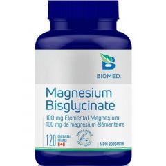 Biomed Magnesium Bisglycinate, 120 Capsules