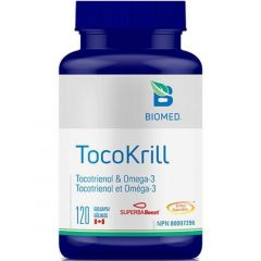 Biomed TocoKrill,120 Gelcaps