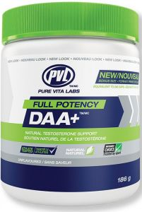 PVL 100% Natural Full Potency DAA+ 186g, Unflavoured