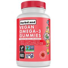 Herbaland Gummies For Adults Plant-based Omega-3, 90 Gummies