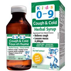 Kids 0-9 Cough & Cold Herbal Syrup, 100ml