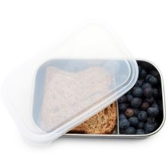 Kids Konserve Rectangle Container with Divider, 33oz (975ml)