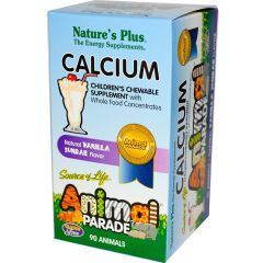Nature's Plus Animal Parade Calcium Chews, 90 Animal-Shaped Chewable Tablets