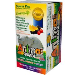 Nature's Plus Animal Parade Chewable Multivitamin & Multimineral for Kids, Assorted Natural Flavours