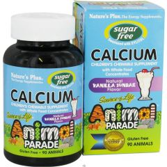 Nature's Plus Animal Parade Calcium Chews, Sugar Free, 90 Animal-Shaped Chewable Tablets