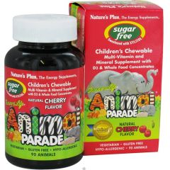 Nature's Plus Animal Parade Chewable Multivitamin & Multimineral for Kids, Sugar Free, 90 Animal-Shaped Chewable Tablets