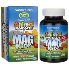 Nature's Plus Animal Parade MagKidz Chewables, Cherry Flavour, 90 Animal Shaped Chewable Tablets