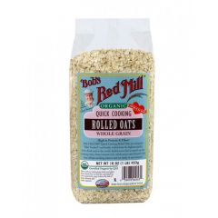 Bob's Red Mill Organic Quick Rolled Oats, 454g