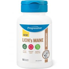 Progressive Lion's Mane, 60 Vegetable Capsules