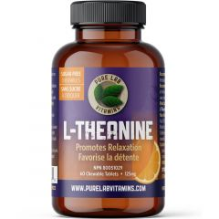 Pure Lab Vitamins L-Theanine Chewables, 60 Tablets