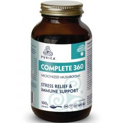 Purica Complete 360 Micronized Mushrooms (360 Degree Stress Relief & Immune Support), 100g Powder