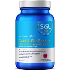 SISU Cold & Flu Rescue for Kids with Ester-C-60 Chewable Tablets