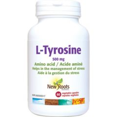 New Roots L-Tyrosine 500mg, 60 Vegetable Capsules