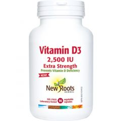 New Roots Vitamin D3 2,500IU Extra Strength Capsules