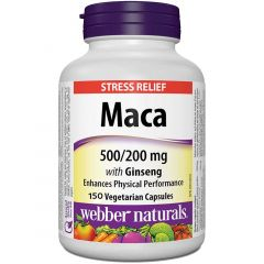 Webber Naturals Maca Energy with Ginseng, 150 vegetable capsules