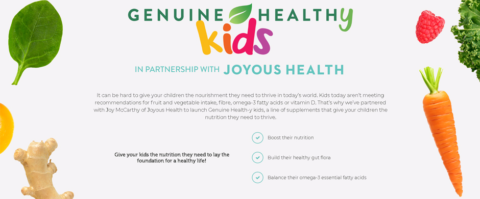 Genuine Health Fermented Organic Gut Superfoods+ For Kids