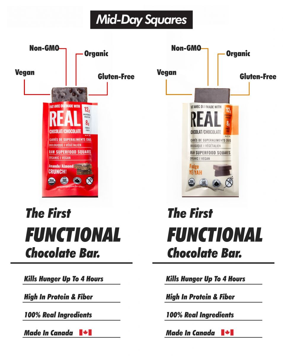 Mid-Day Squares (Real Chocolate and Top Raw Superfood Squares)